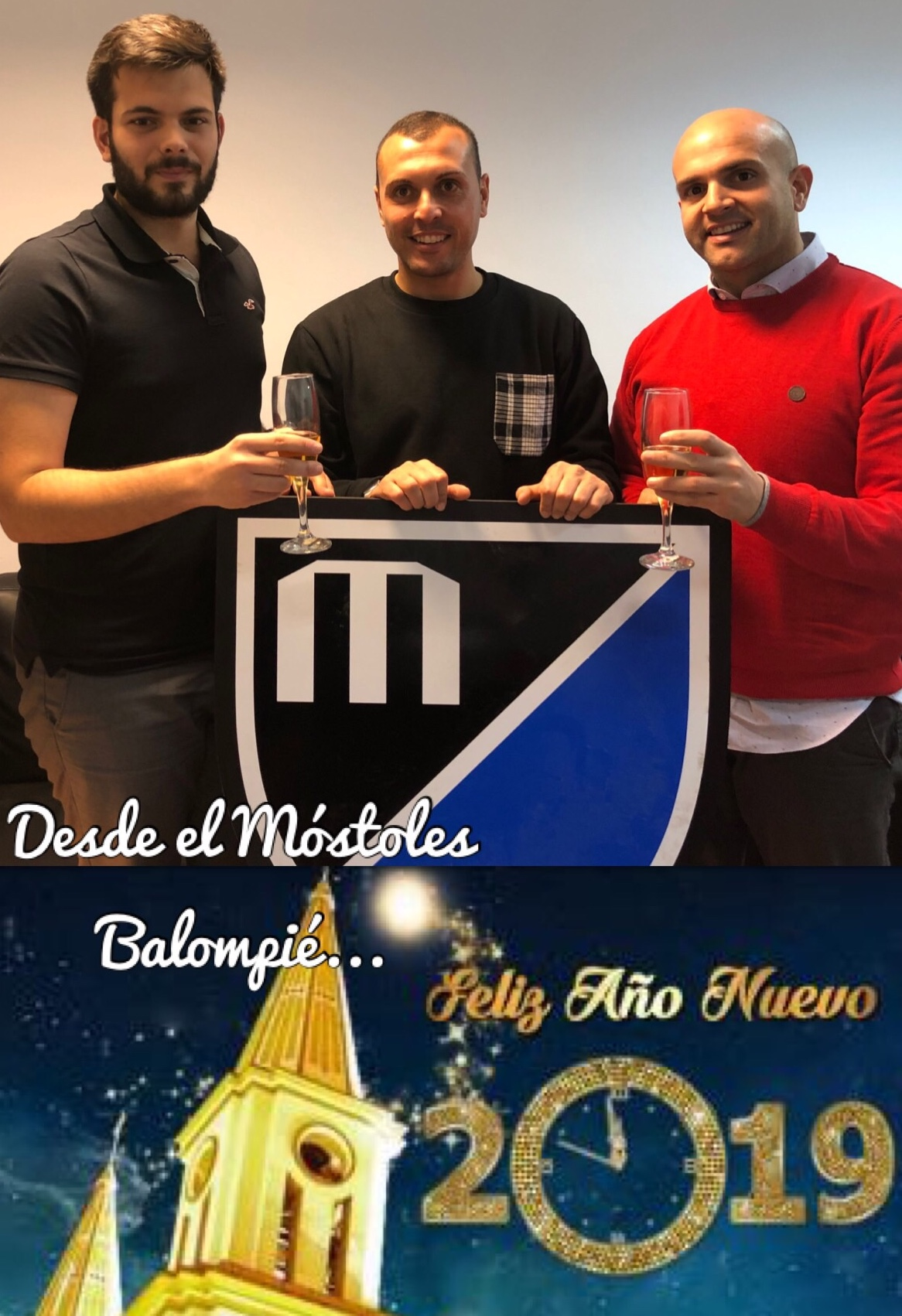 El Móstoles Balompié os desea un feliz 2019
